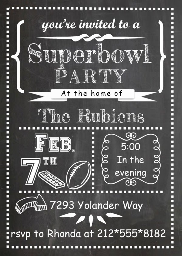 Superbowl Party Invitation Template Unique 21 Super Bowl Invitation Designs Psd Vector Eps Jpg
