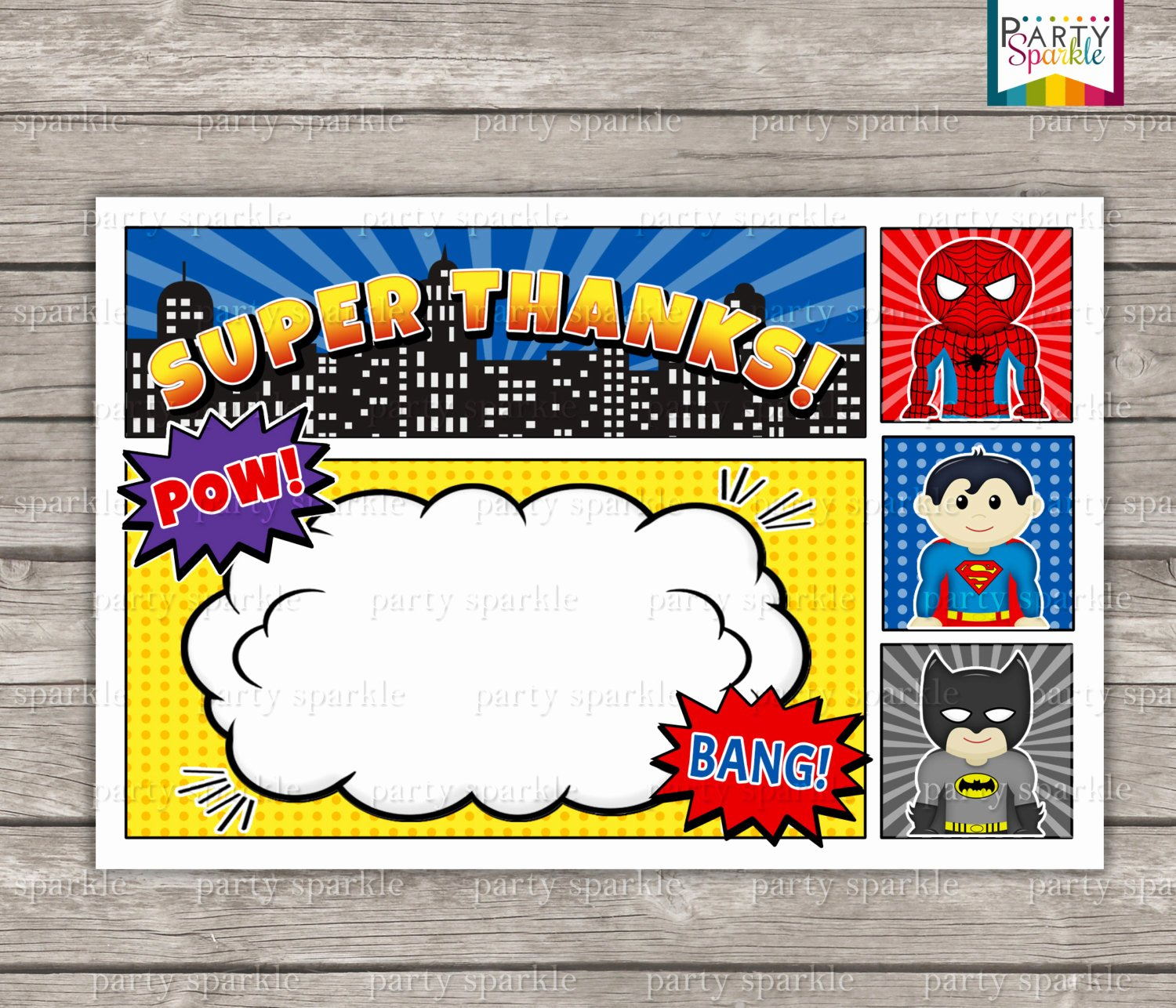 Superhero Birthday Invitation Template Beautiful 12 Free Printable Blank Superhero Birthday Invitation