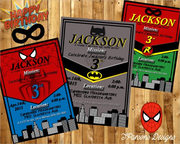 Superhero Birthday Invitation Template Beautiful 34 Superhero Birthday Invitation Templates – Free Sample
