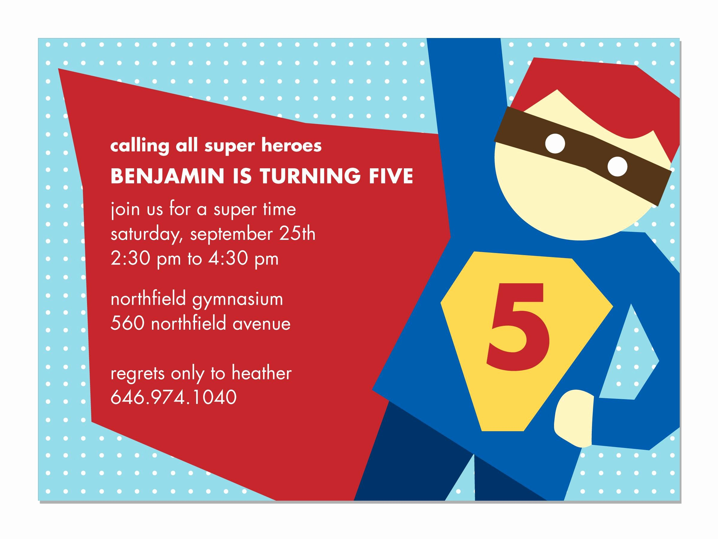 Superhero Birthday Invitation Template Beautiful Superhero Party Invitations