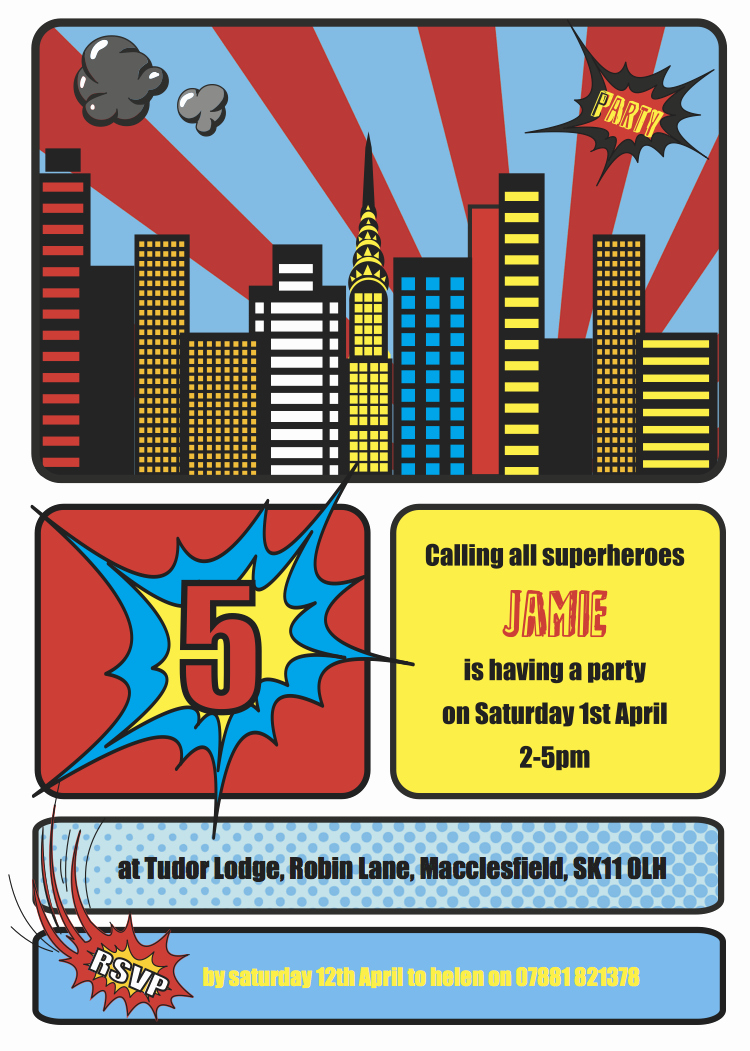 Superhero Birthday Invitation Template Elegant Cococards Weekly Party Idea Superhero Party