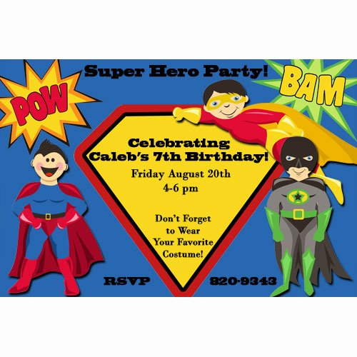 Superhero Birthday Invitation Template Elegant Superhero Birthday Party Invitations for Him – Free