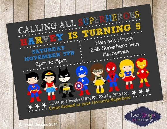 Superhero Birthday Invitation Template Inspirational Superhero Boy Invitation Superhero Birthday by