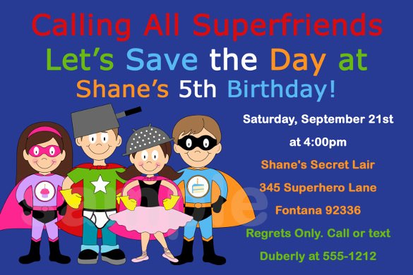 Superhero Birthday Invitation Template Luxury Free Printable Superhero Birthday Invitation Templates