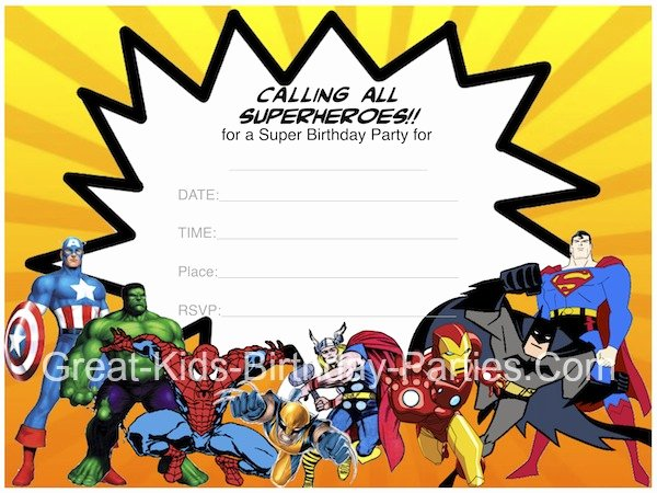 Superhero Invitation Template Free Beautiful Superhero Printables