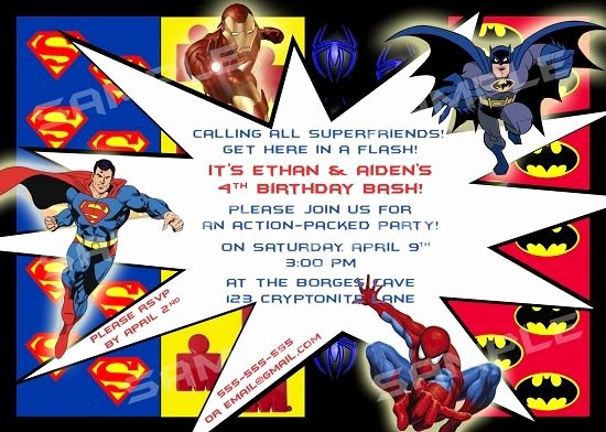 Superhero Invitation Template Free Best Of Download Free Printable Superhero Birthday Invitations
