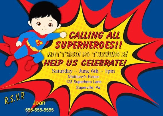 Superhero Invitation Template Free Elegant 17 Best Ideas About Superman Invitations On Pinterest
