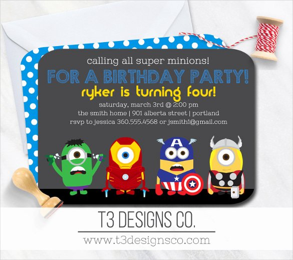 Superhero Invitation Template Free Elegant 30 Superhero Birthday Invitation Templates Psd Ai