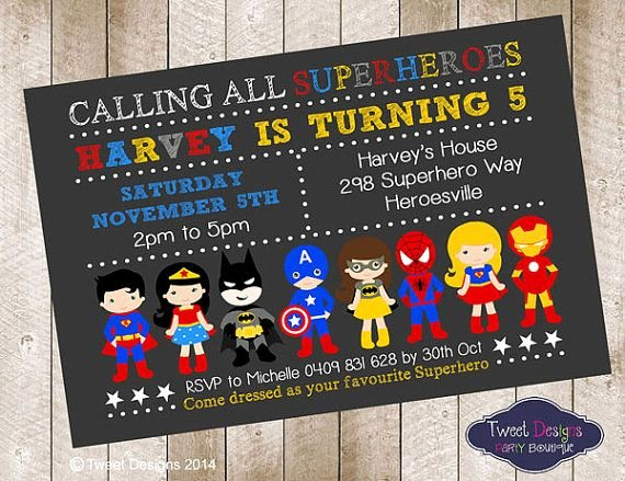 Superhero Invitation Template Free Fresh Superhero Birthday Invitations Superhero Birthday