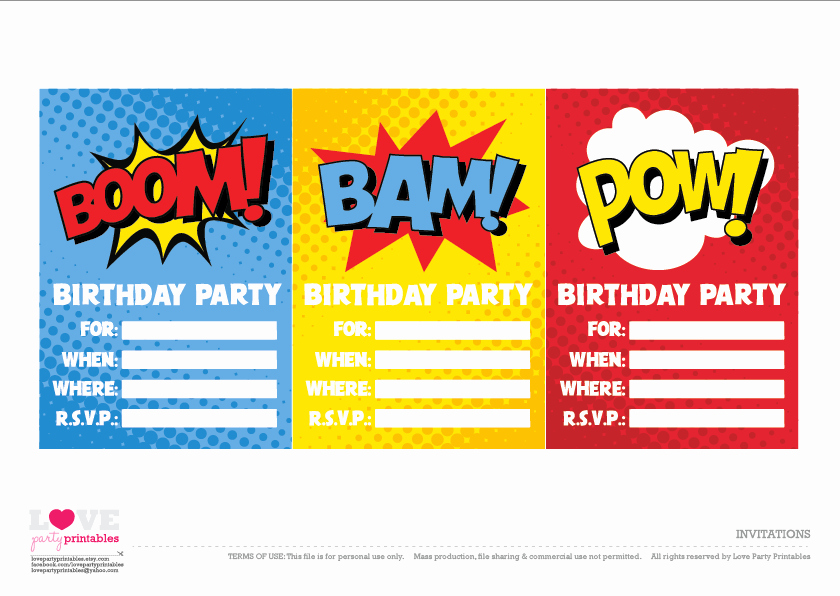 Superhero Invitation Template Free Inspirational Free Superhero Party Printables