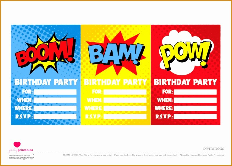 Superhero Invitation Template Free Luxury 10 Free Printable Super Hero Birthday Invitations
