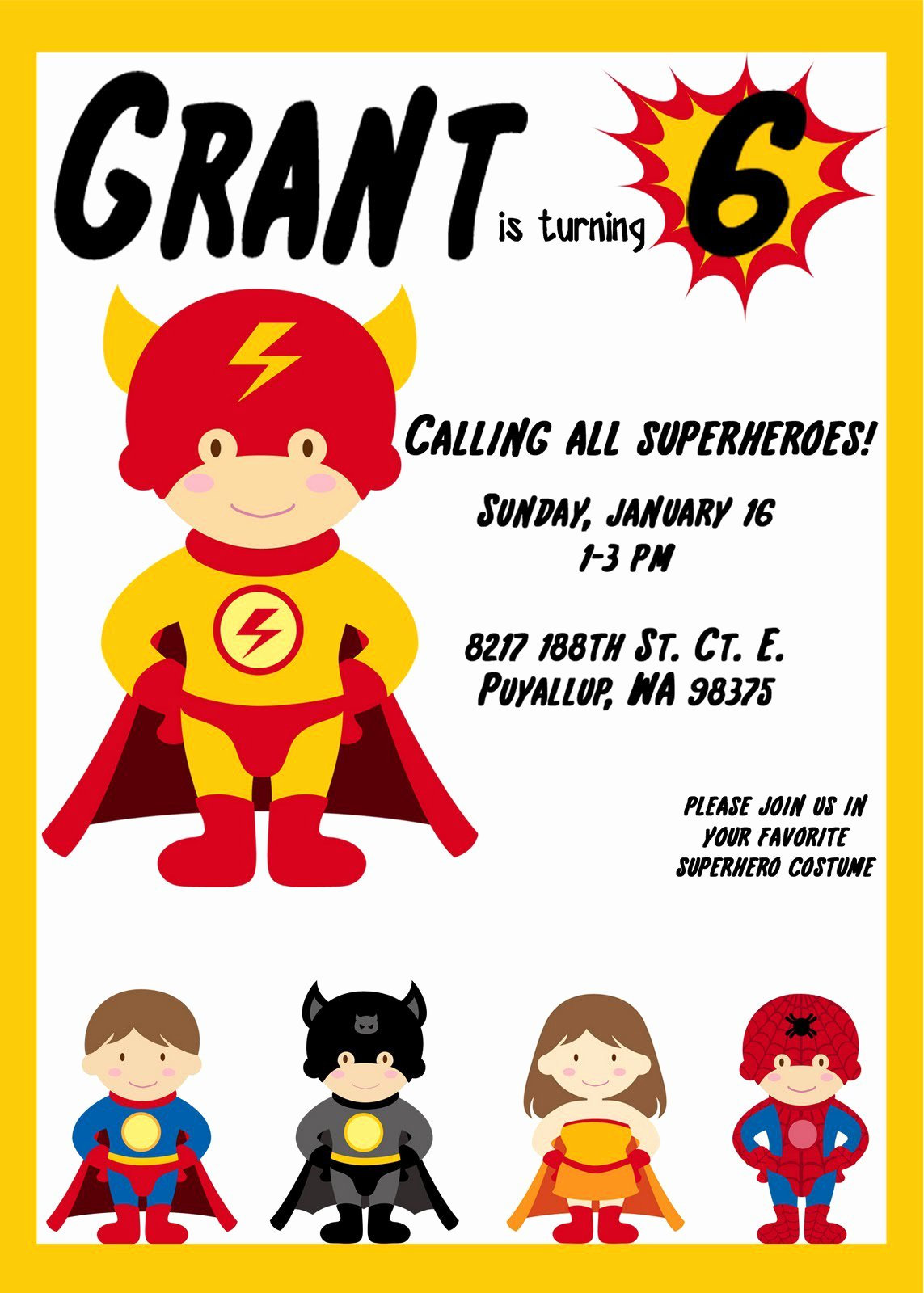 Superhero Invitation Template Free New Free Printable Superman Invitations