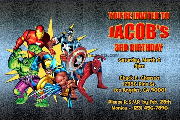 Superhero Invitations Template Free Best Of Marvel Superhero Invitations