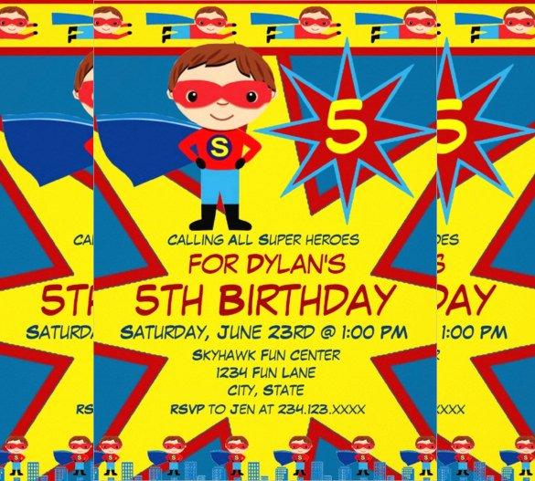 Superhero Invitations Template Free Elegant Birthday Invitation Templates Free Download