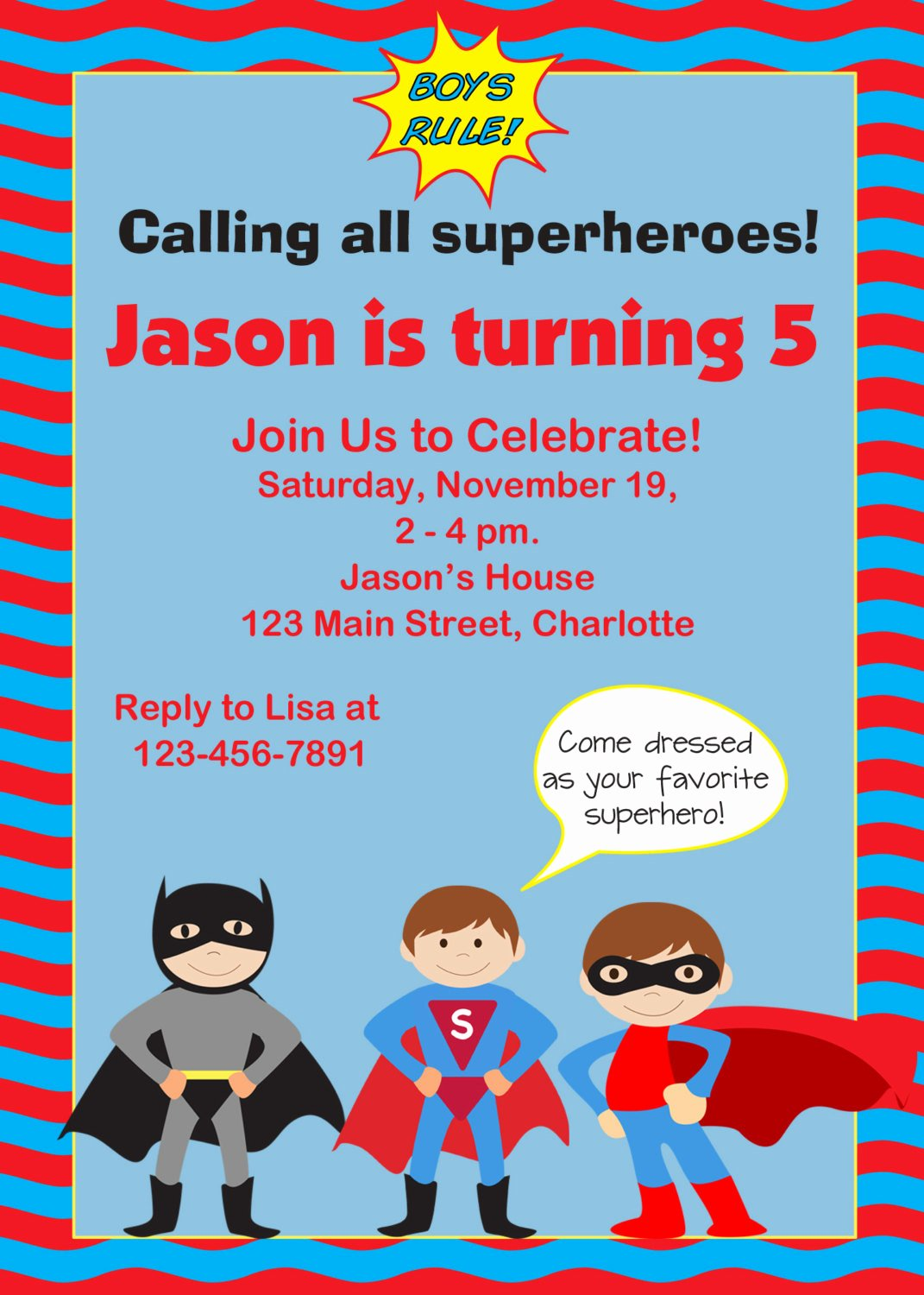 Superhero Invitations Template Free Fresh Free Printable Superhero Birthday Invitation Templates