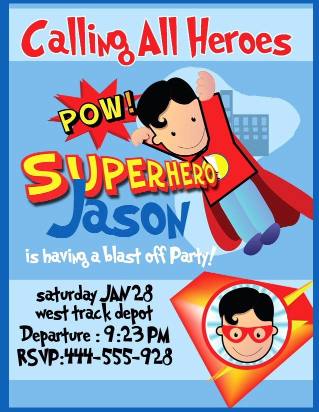 Superhero Invitations Template Free Inspirational Superhero Birthday Party Invitations Templates Free