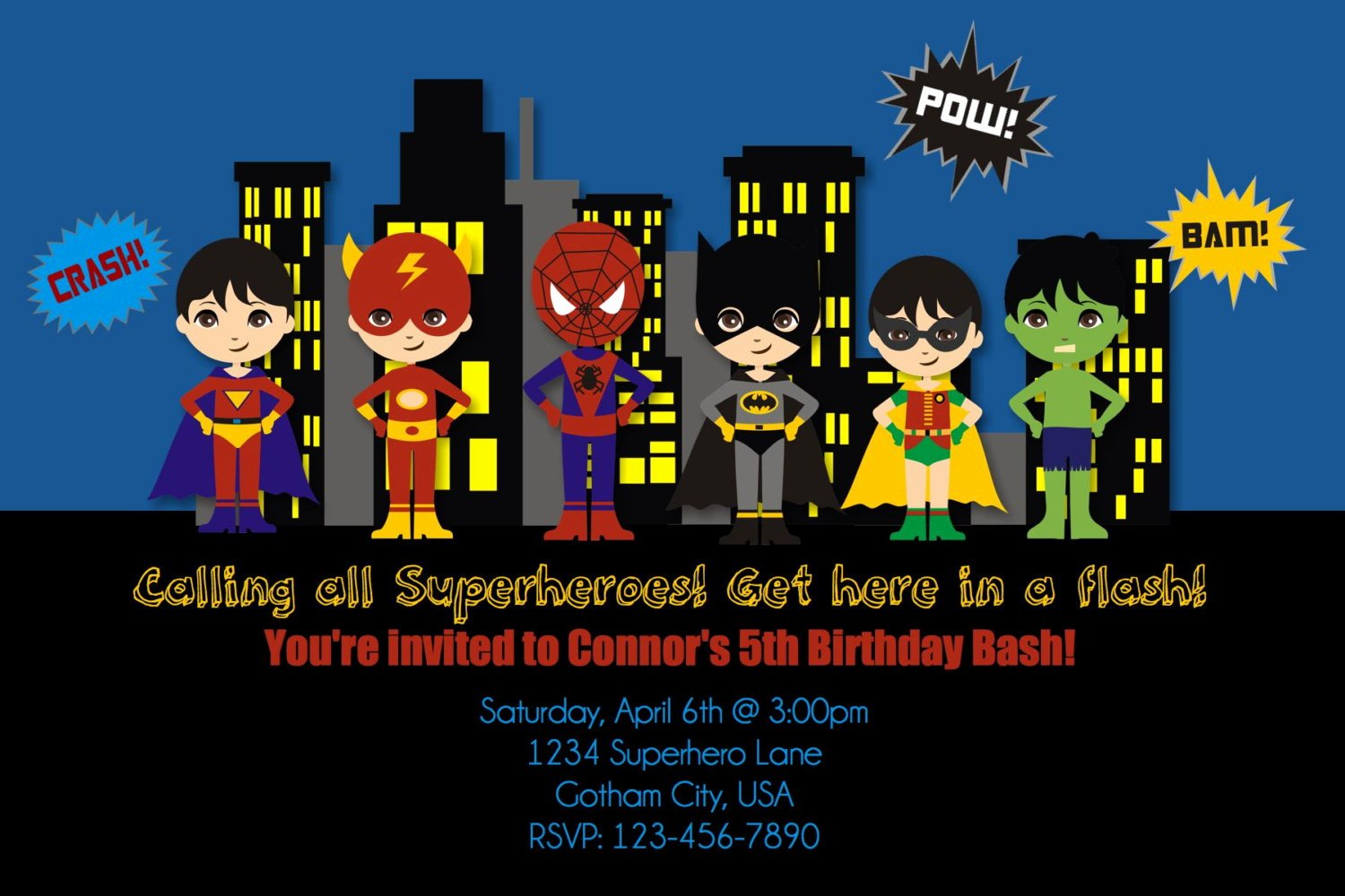 Superhero Invitations Template Free Lovely Free Printable Superhero Birthday Invitations – Free