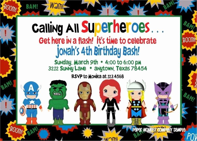 Superhero Invitations Template Free Luxury Free Superhero Invitations Templates Superhero Birthday