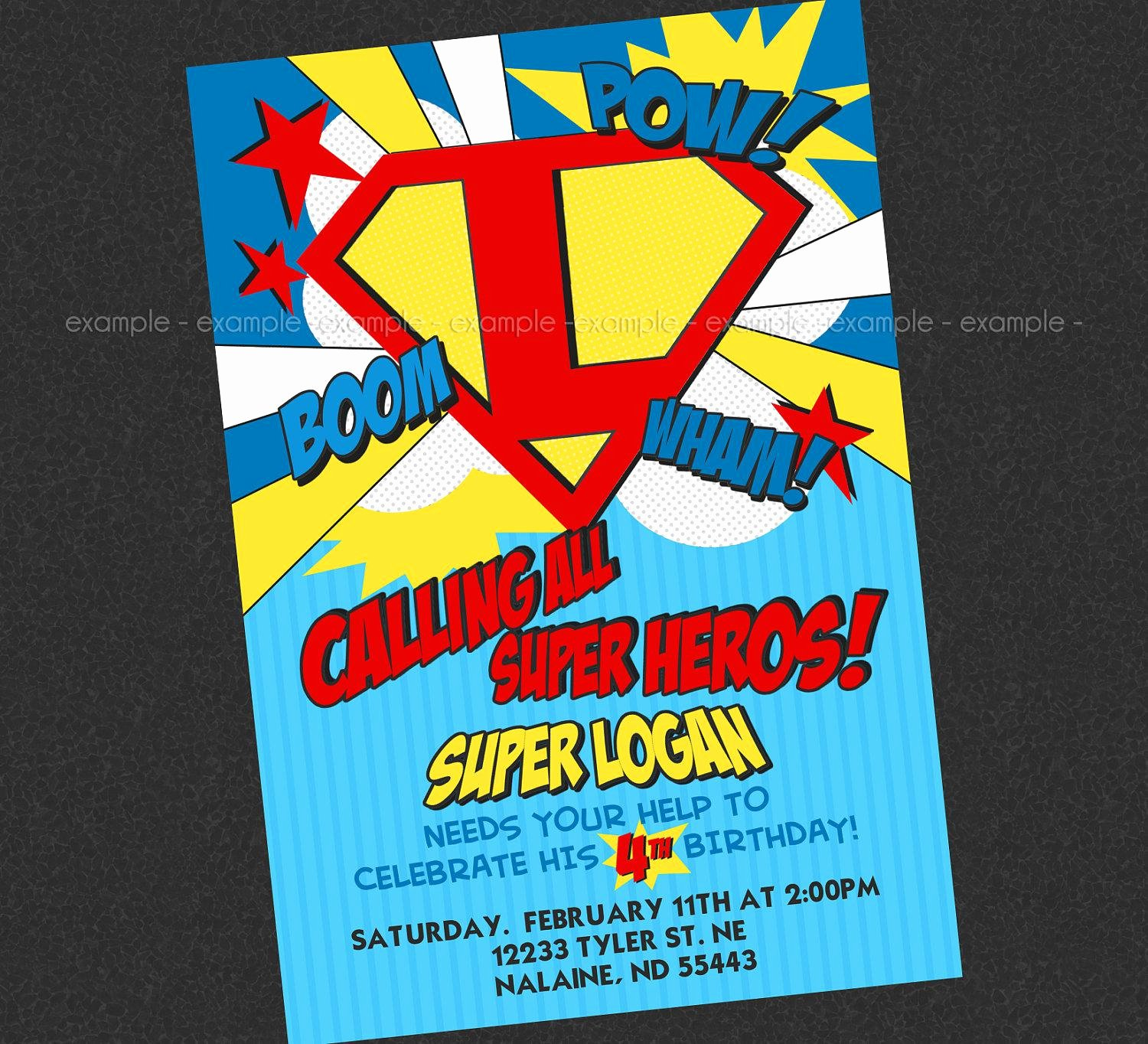 Superhero Invitations Template Free Luxury Superhero Party Invitations