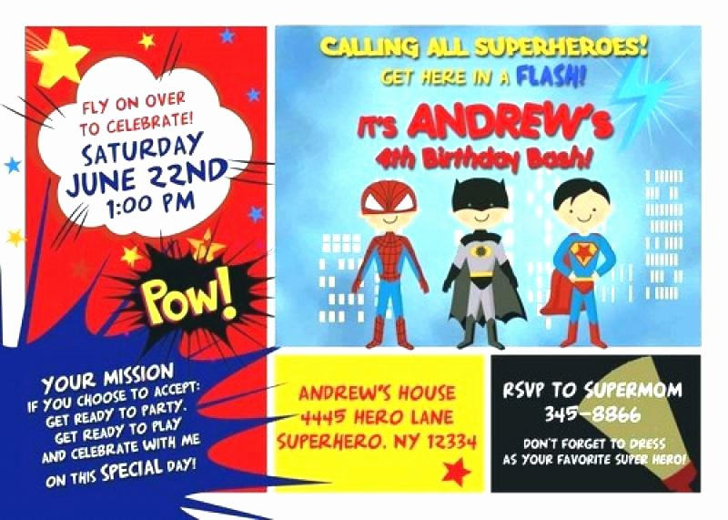 Superhero Invitations Template Free New Superhero Flyer Template Superheroes Templates Definition