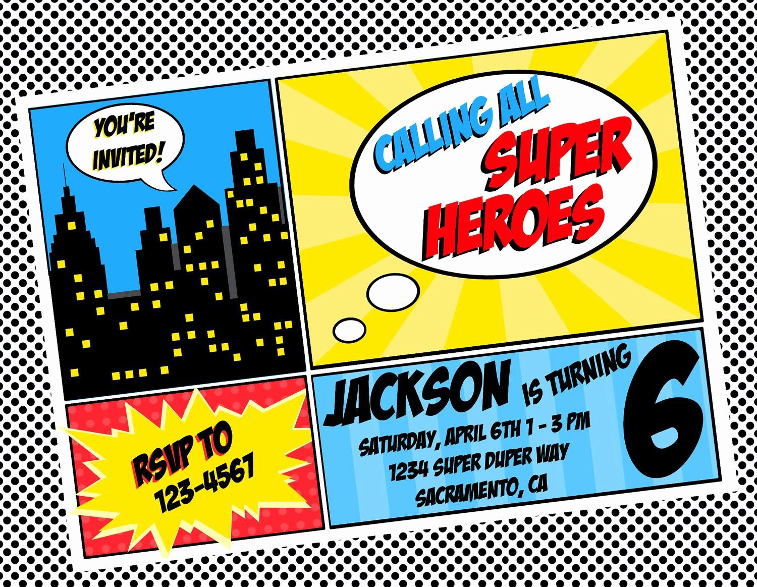Superhero Invitations Template Free Unique Superhero Invitation Template
