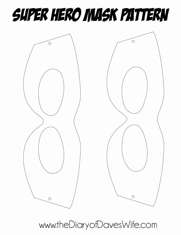 Superhero Mask Template Pdf Awesome Super Hero Mask Pattern