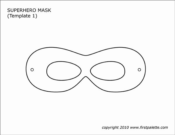 Superhero Mask Template Pdf Awesome Superhero Masks
