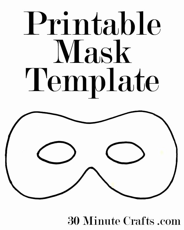 Superhero Mask Template Pdf Beautiful Printable Halloween Mask Templates A Superhero Mask