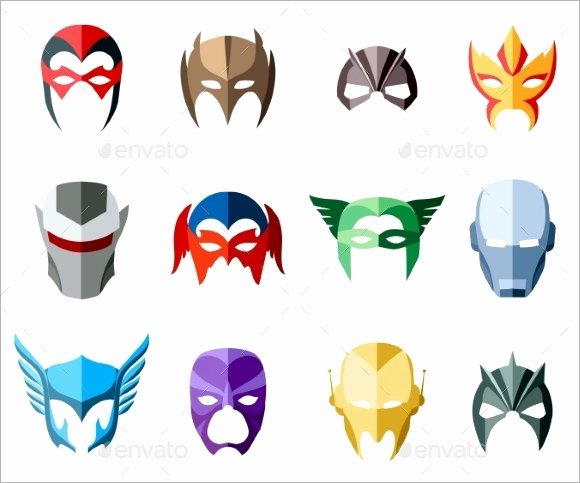 Superhero Mask Template Pdf Inspirational Superhero Mask Template 7 Download Documents In Psd