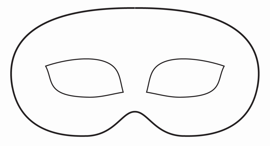 Superhero Mask Template Pdf Lovely Mask Cut Out Printable Printable 360 Degree