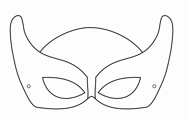 Superhero Mask Template Pdf Luxury Superhero Mask Template