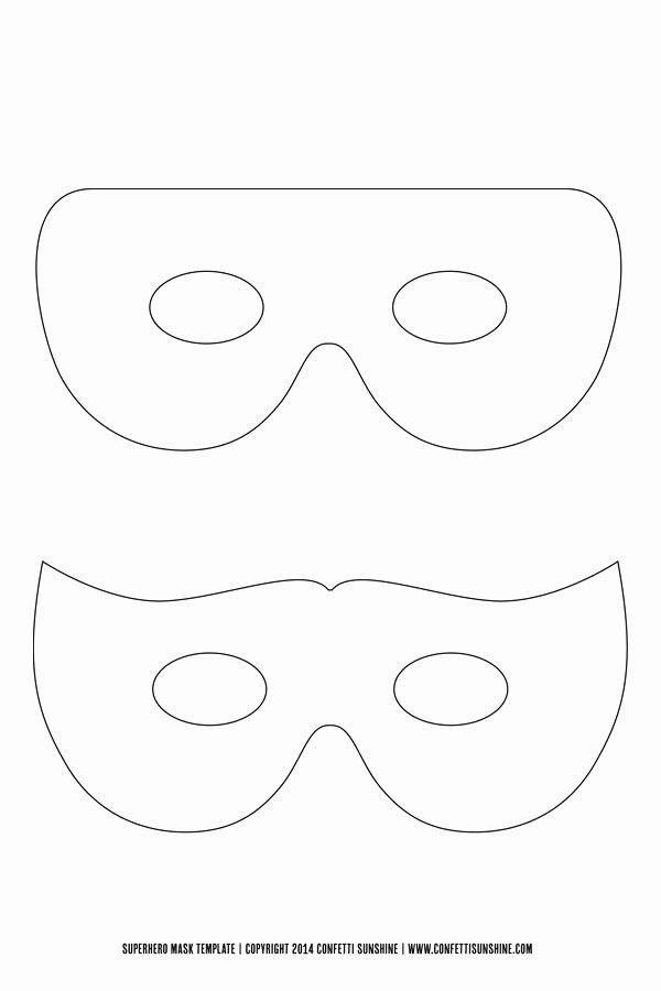 Superhero Mask Template Pdf New Fantasia De Super Herói E De Super Herona Faça Você