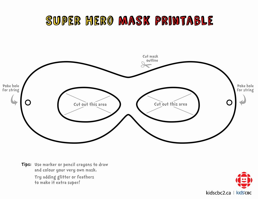 Superhero Mask Template Pdf Unique Make Your Own Super Awesome Superhero Mask