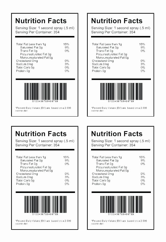 Supplement Facts Label Template Beautiful Free Blank Nutrition Facts Label Template Word Lovely