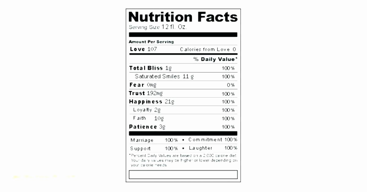Supplement Facts Label Template Fresh Fda Nutrition Facts Label Template