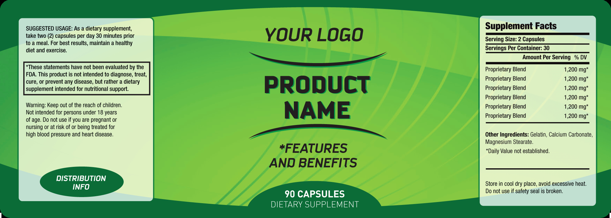 Supplement Facts Label Template Inspirational 6 Free Label Templates Excel Pdf formats
