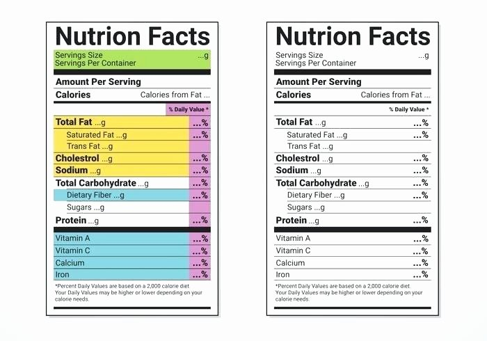 Supplement Facts Label Template Inspirational Supplement Facts Label Template tomato Nutrition Facts