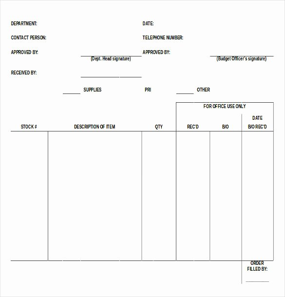 Supply order form Template Best Of 41 Blank order form Templates Pdf Doc Excel