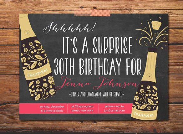 Surprise Party Invitation Template Awesome 16 Outstanding Surprise Party Invitations & Designs