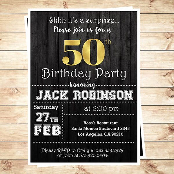 Surprise Party Invitation Template Awesome 81 Birthday Invitations