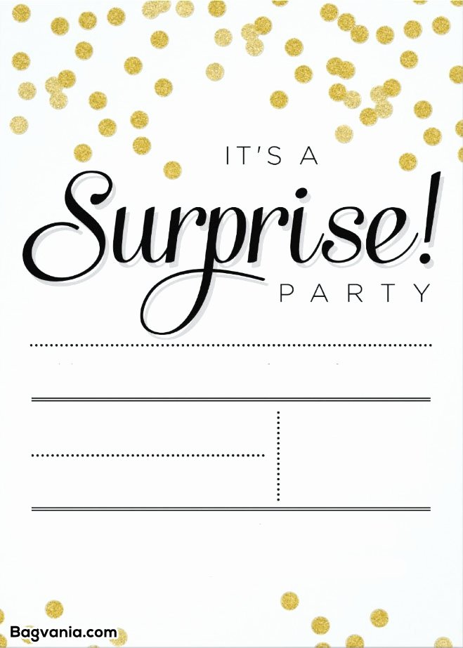 Surprise Party Invitation Template Awesome Free Printable Surprise Birthday Invitations – Free