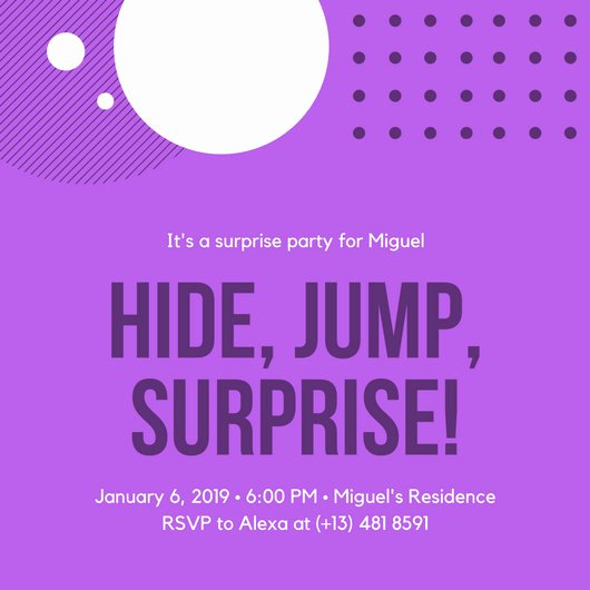 Surprise Party Invitation Template Beautiful Surprise Party Invitation Templates Canva
