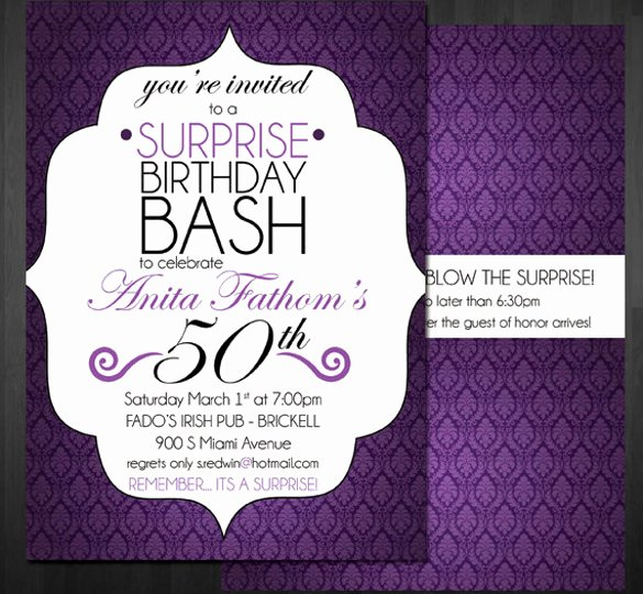 Surprise Party Invitation Template Elegant 14 Surprise Birthday Invitations Free Psd Vector Eps