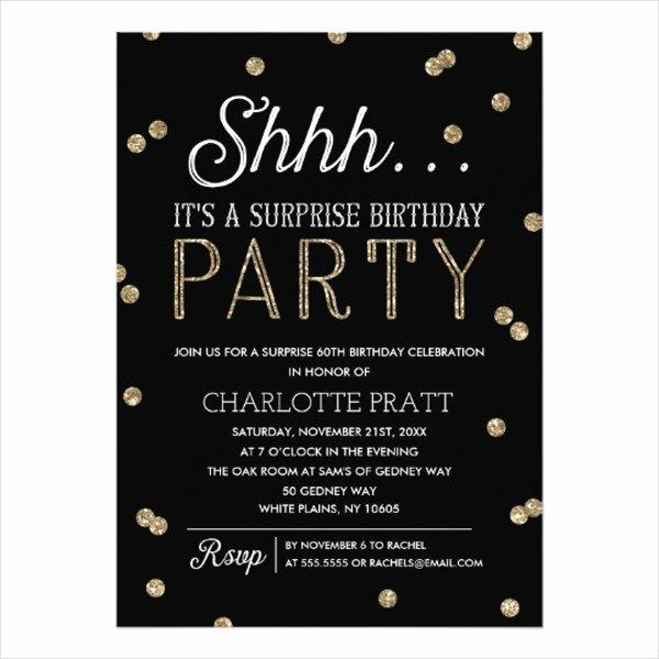 Surprise Party Invitation Template Elegant 81 Birthday Invitations