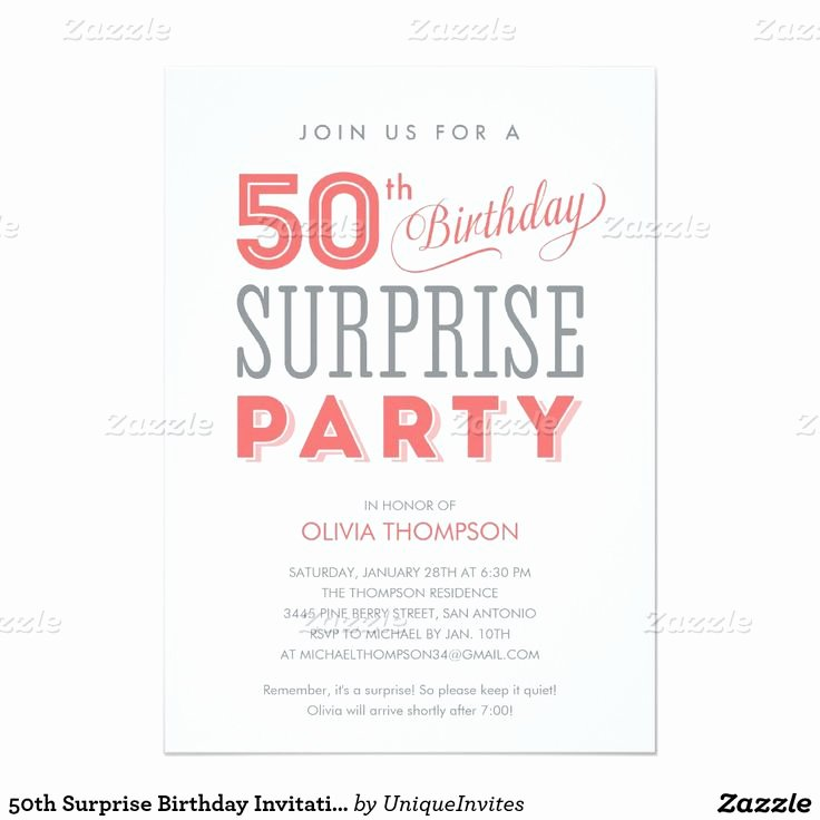 Surprise Party Invitation Template Fresh Best 20 50th Birthday Invitations Ideas On Pinterest