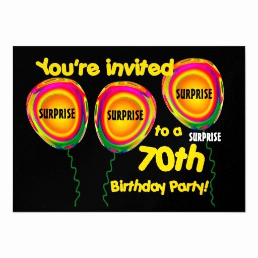 Surprise Party Invitation Template Inspirational 70th Surprise Birthday Party Invitation Template