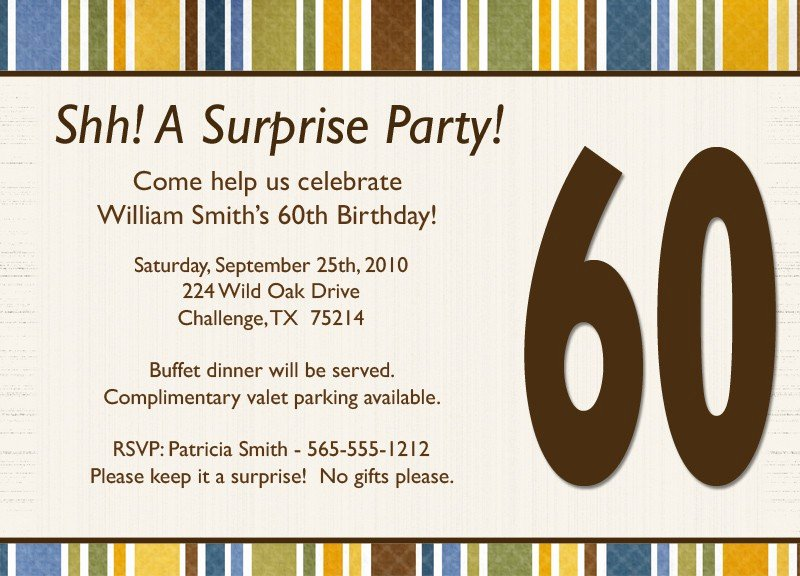 Surprise Party Invitation Template Lovely Surprise Birthday Invitation Wording Template