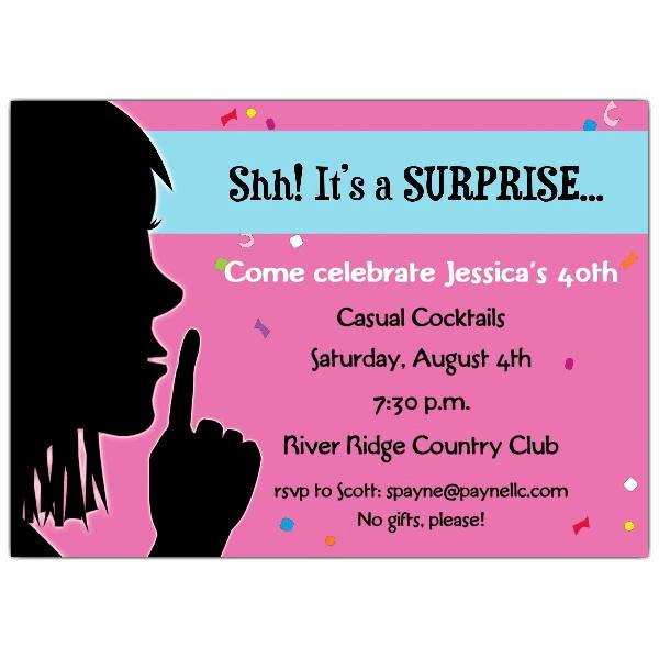 Surprise Party Invitation Template New 20 Interesting 30th Birthday Invitations themes – Wording