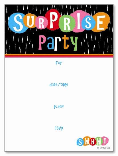 Surprise Party Invitation Template Unique Surprise Party Invitation Template