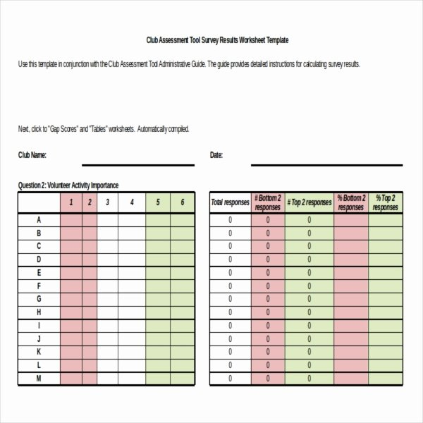 Survey Results Excel Template Lovely Survey Results Templates – 22 Free Word Excel Pdf